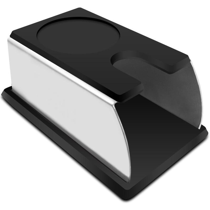 Прочная нержавеющая сталь силиконовая эспрессо Кофейная стойка для трамбовки Бариста инструмент трамбовки держатель стойки Полка кофе машина инструмент черный