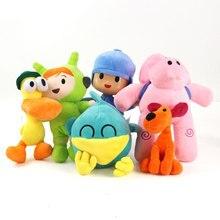 6 unids/lote Pocoyo felpa 14-30cm Pocoyo y Pato Elly Loula Sleepy Nina peluches animales suaves juguete muñeca regalo para niños