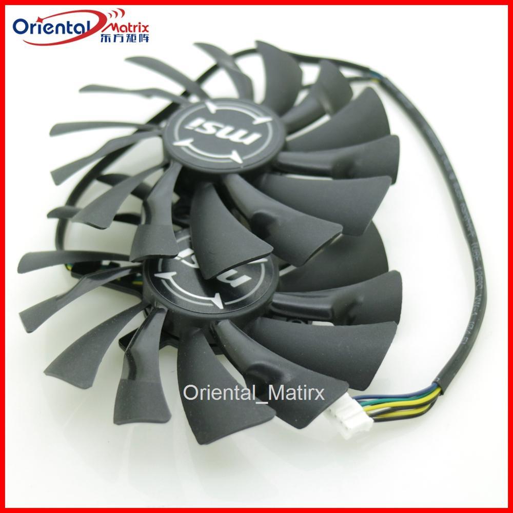 Бесплатная доставка, 2 шт./лот, PLD10010S12HH DC12V 0.40A 95 мм 4Pin для видеокарты MSI GTX1060 GTX1070