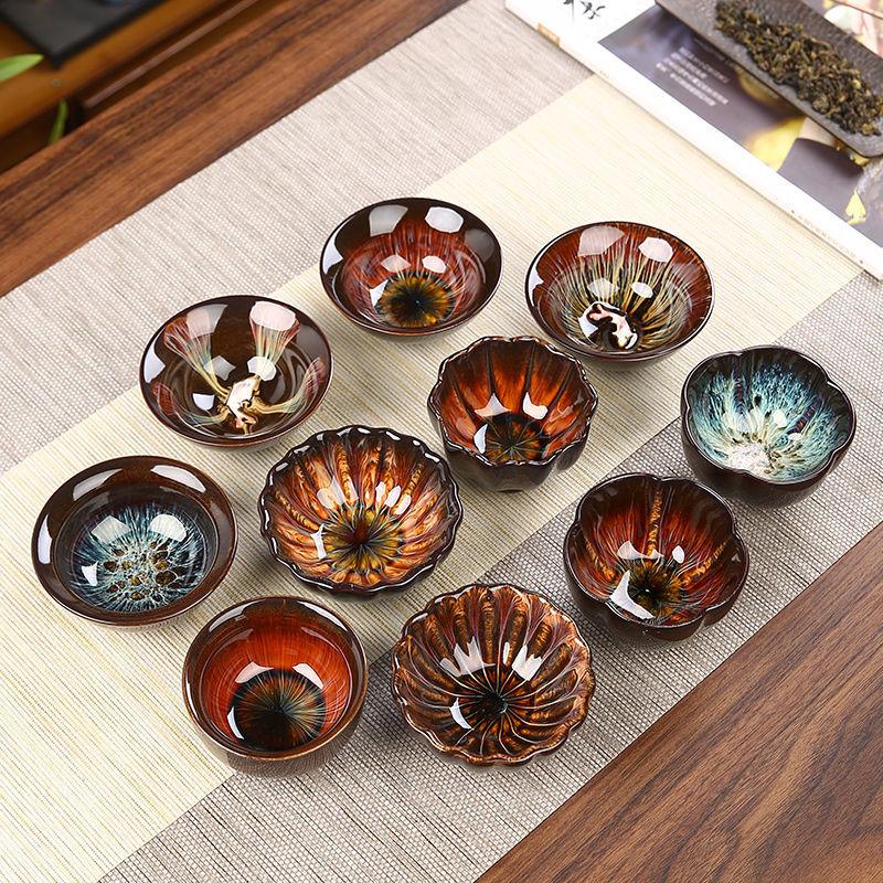 النمط الياباني فنجان الماء أواني خزفية من السيراميك رسمت باليد الكونغفو الشاي المطبخ درينكوير أطباق سيراميك اليدوية
