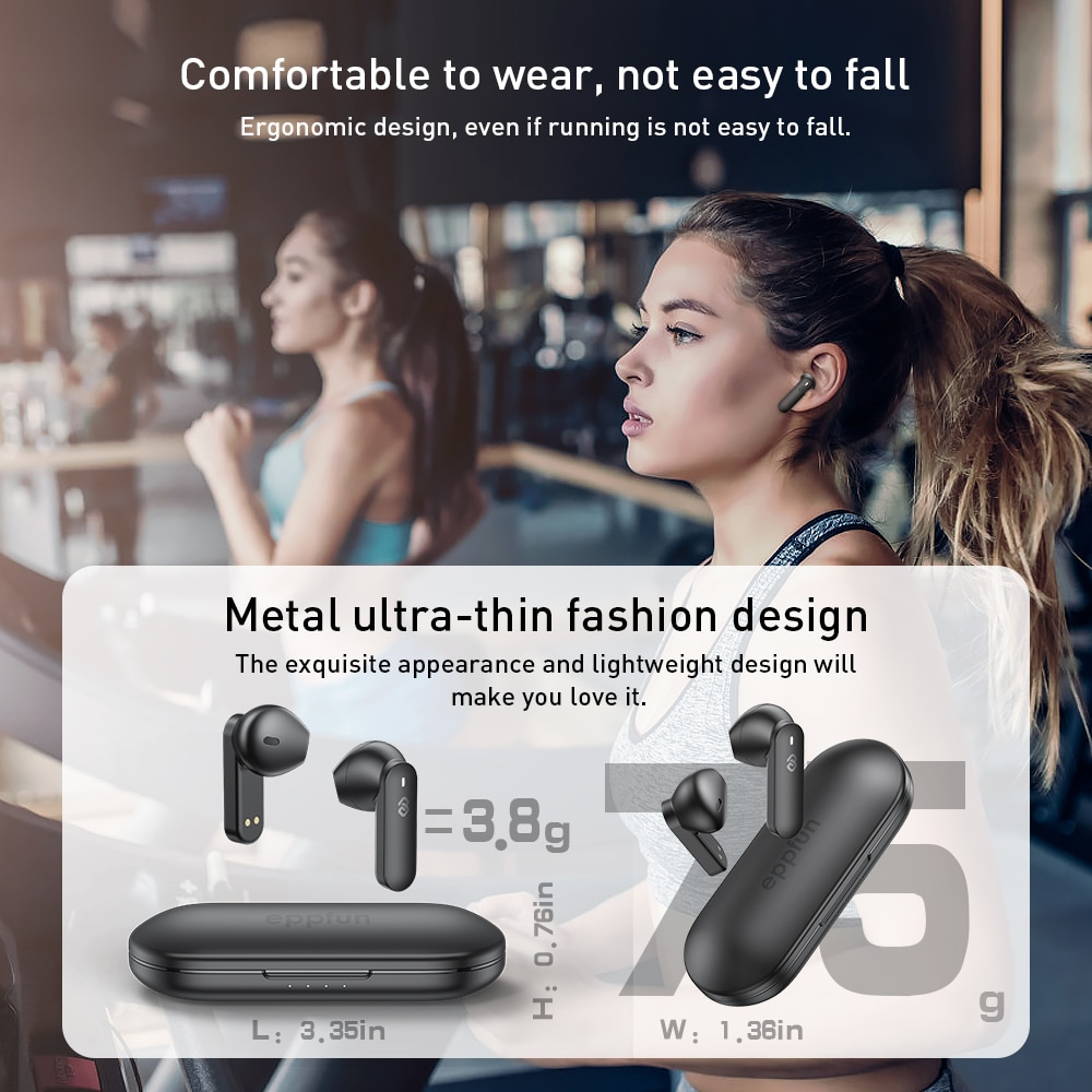True Wireless Earbuds, Bluetooth 5.2 Headphones Qualcomm QCC3040 AptX HD Deep Bass CVC 8.0 Noise Cancellation 4-Mic New funcl AI enlarge