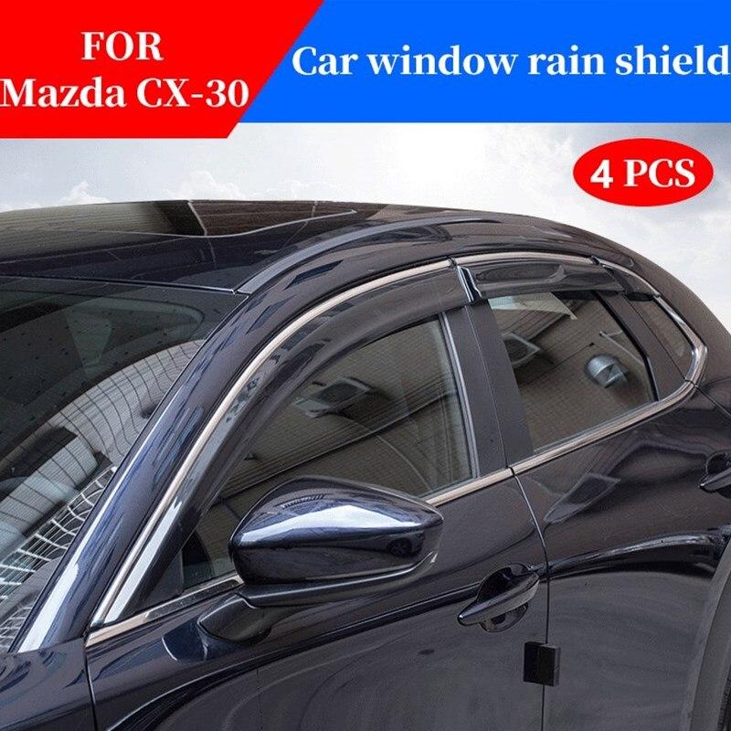 Para Mazda cx-30 cx30 ventana parasol del coche protector para lluvia shiend deflectores toldo trim cubierta exterior coche stylinng accesorios partes