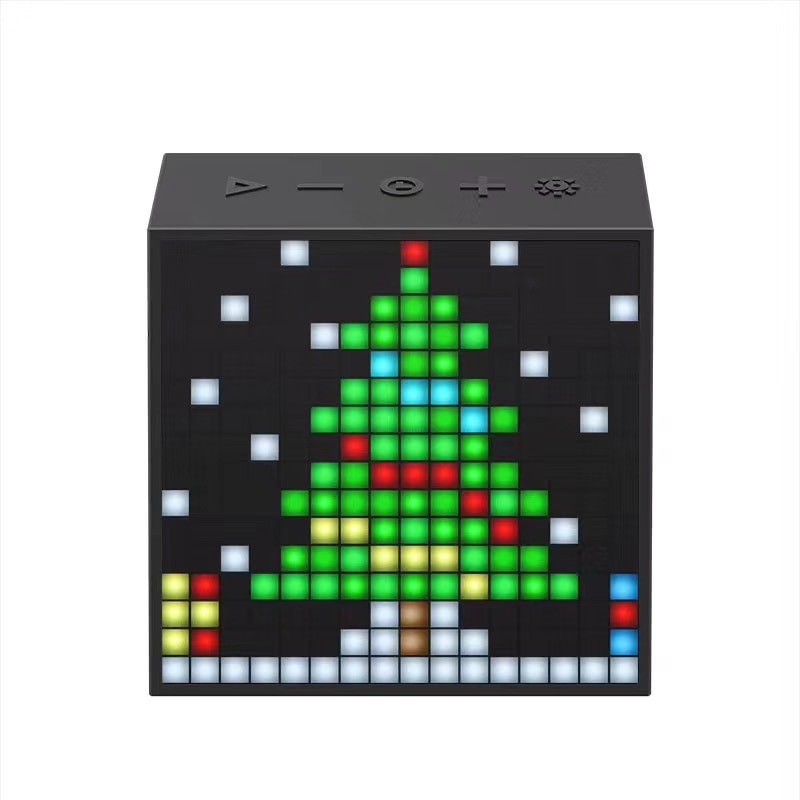Bluetooth Portable Speaker AUX Divoom Timebox Evo with Clock Alarm Programmable LED Display for Pixel Art Creation Unique Gift