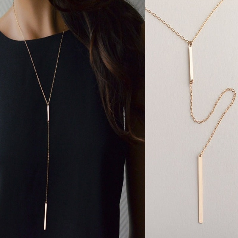 Collares largos Abayabay, joyería para parejas simples, collar de cadena elegante de Color plata a la moda para chicas, Collares Kpop para mujeres