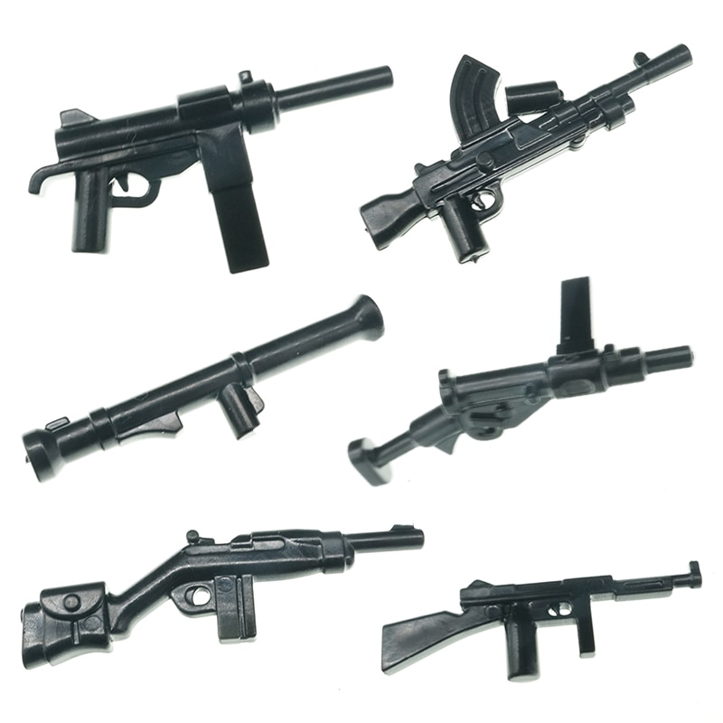 10 Stks/partij WW2 Militaire Serie Wapens Rifle Wapen Bouwstenen Soldaten Figuur Accessoire Guns Blokken Diy Speelgoed W01
