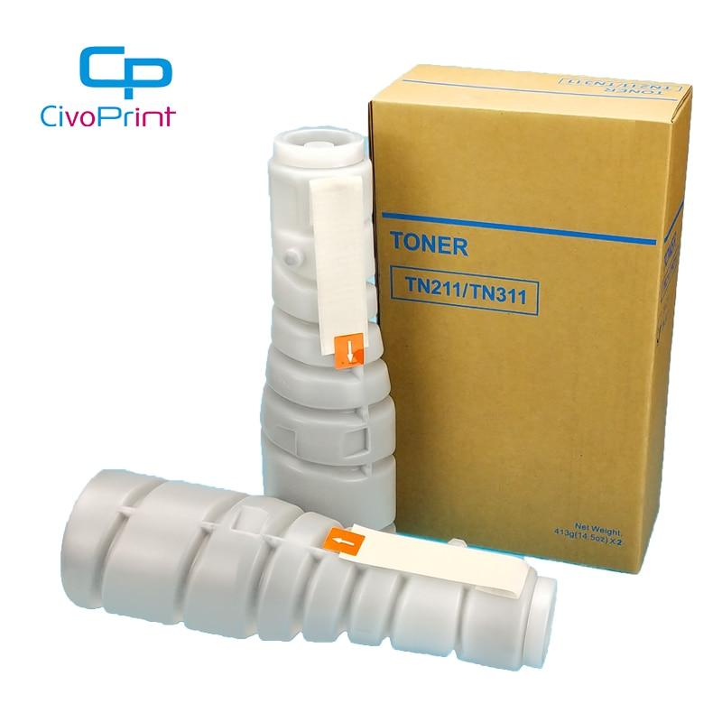 Civoprint متوافق خرطوشة الحبر ل كونيكا مينولتا TN211 Bizhub 250 200 222 282 300 350 362 360 420 500 C203