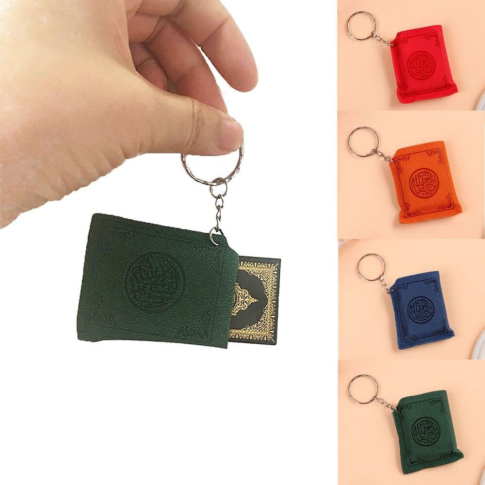 Мини исламский мусульманский ковчег Коран книга брелок кольцо автомобильная сумка кошелек настоящая бумага может читать Подвеска Шарм мусульманские украшения