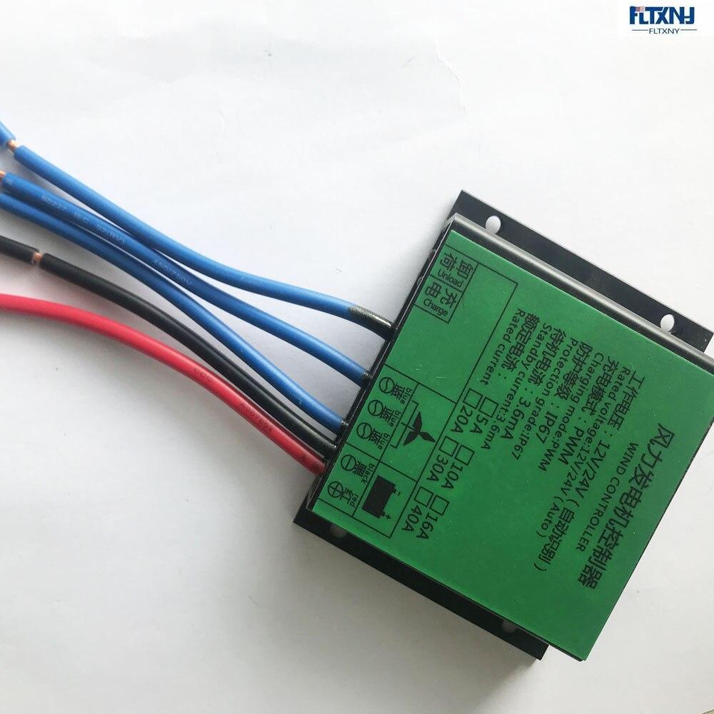 Controlador PWM, 300W, 600W, controlador de carga de turbina eólica, regulador a prueba de agua para generador de viento 12V 24V, interruptor automático 20A