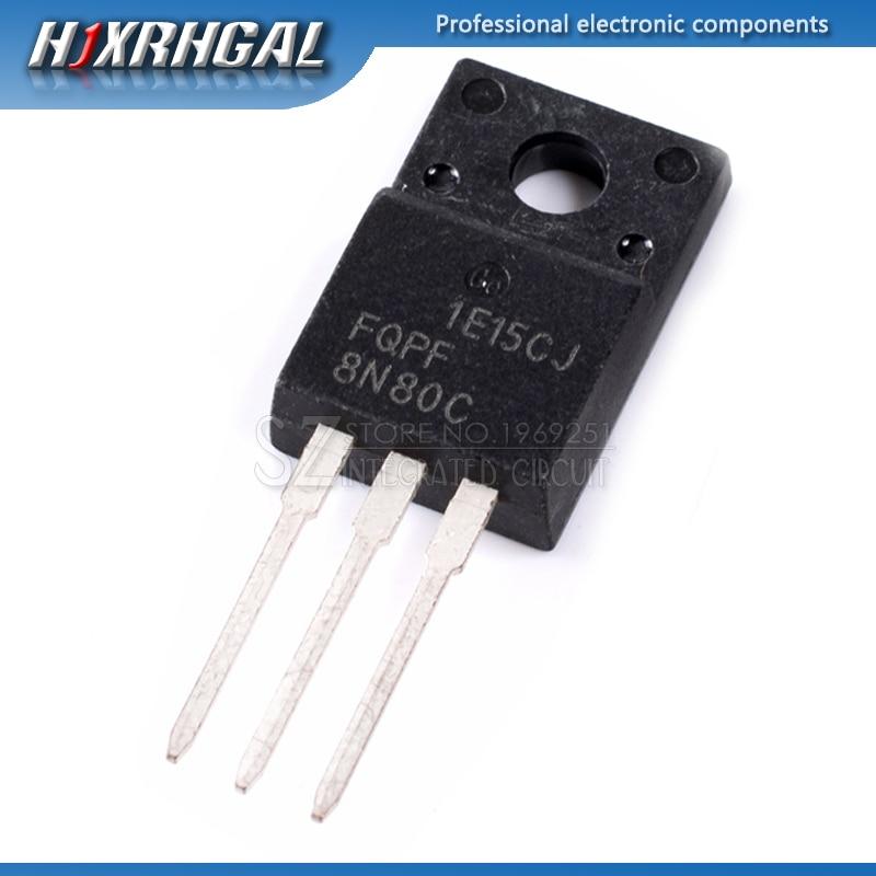 1pcs FQPF8N80C 8N80C TO-220F 8N80 TO220F