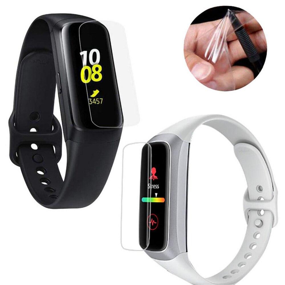 5 piezas para Samsung Galaxy Fit y Fit E TPU Protector de pantalla Anti-rayado Ultra delgado suave Smart Watch Protector de pantalla película