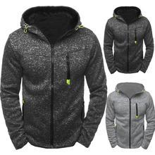 Sport automne hommes vestes manteaux hiver chaud épaissi veste hommes à glissière blouson à capuche vestes manteau vêtements pour hommes