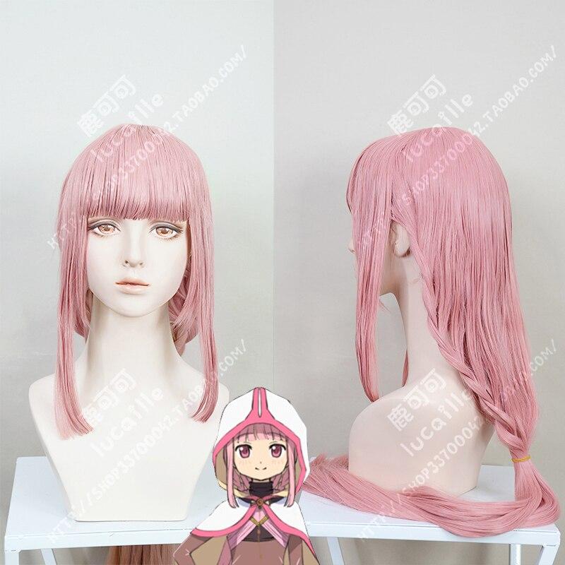 Magia registro Puella Magi Madoka Magica lado historia Iroha Tamaki Cosplay pelucas 100cm Rosa sintético largo pelo + peluca Cap