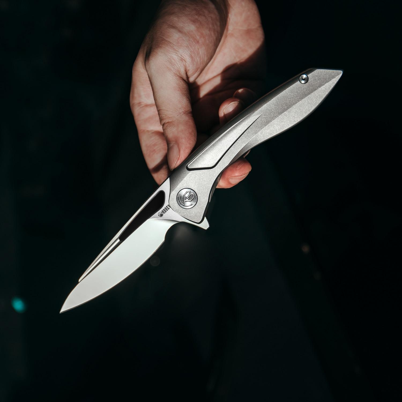 Kubey Velocé KB171 سكين للفرد S30V شفرة الصلب التيتانيوم مقبض عالية EDC أداة للصيد في الهواء الطلق