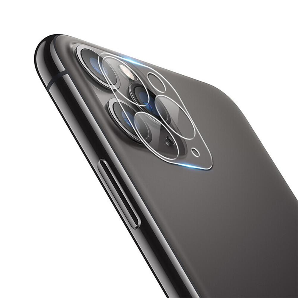 Protector de lente de cámara trasera cristal templado marco de Metal anillo Protector de pantalla de lente de cámara trasera para teléfono 11/Pro Max # L4