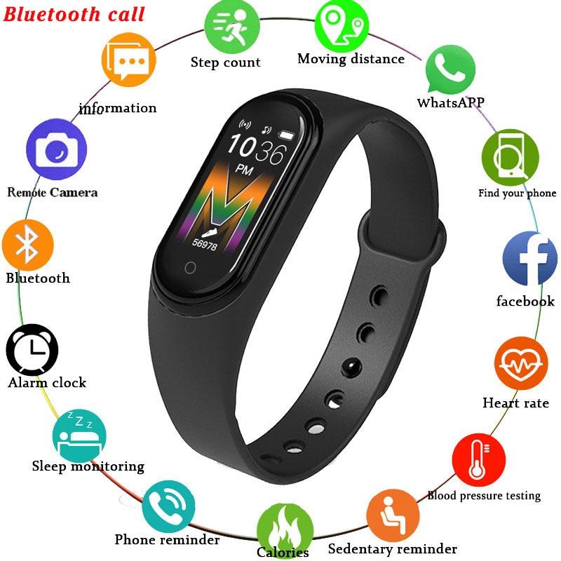 Smart band M5 Women Bluetooth Call/Music Smart Band Waterproof Heart Rate Blood Pressure Men Health Wristband Smart Bracelet
