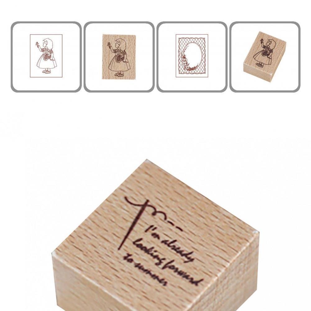 Портативная практичная декоративная печать «сделай сам» деревянная печать буковая деревянная печать креативная для школы