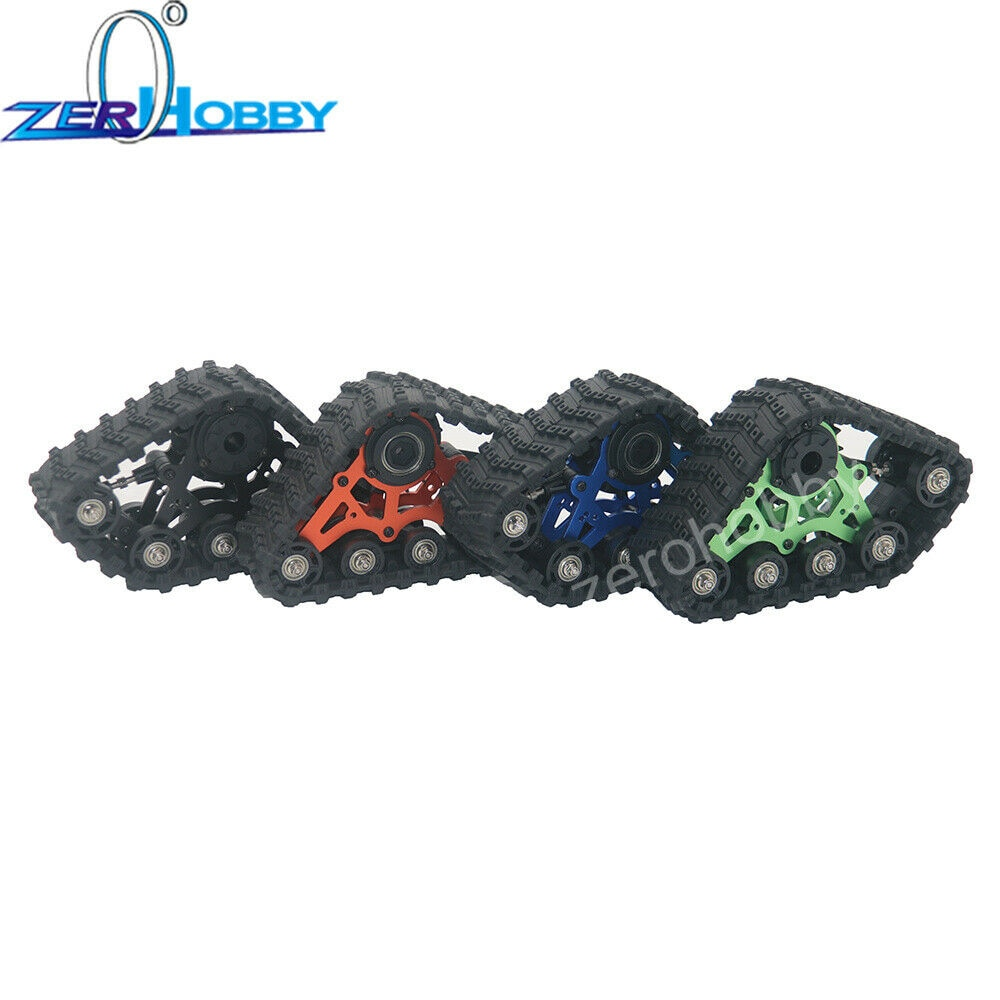 4 pièces en aluminium Option pneus de bande de roulement agressifs ensemble de système et Kit de Conversion pour chenilles 1/10, SCX10, TRX-4
