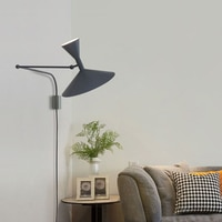 Modern Adjustable switch Wall Lamp Long arm Reading bedroom Bedside light Northern Europe Led living room restaurant Wall Lights