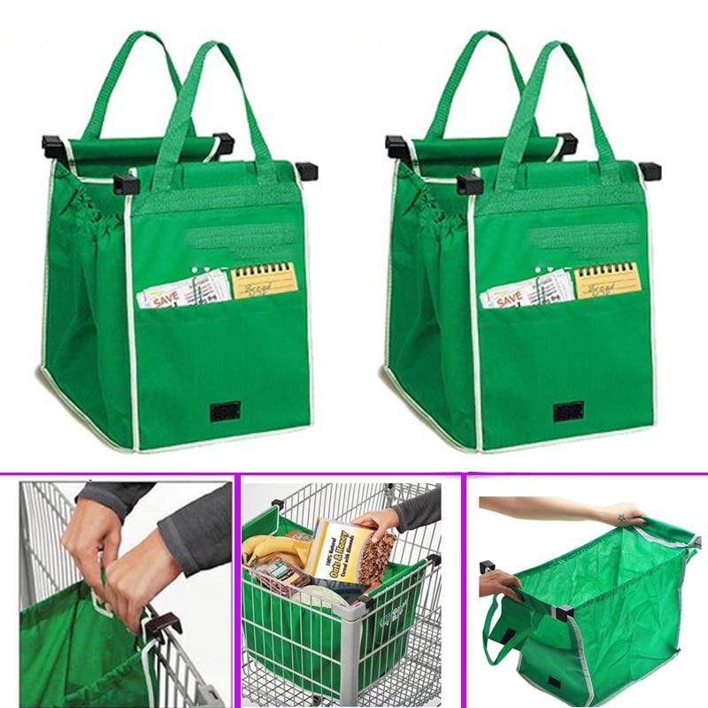 Прямая поставка, 1 шт., сумка для шоппинга, складная, многоразовая, для магазина, многоразовые, экологически чистые, моющиеся, зеленые
