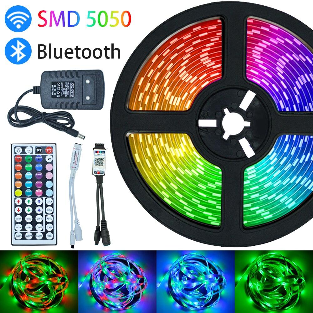 Tira de luz Led Luces Led RGB SMD 5050 2835 Bluetooth WiFi...