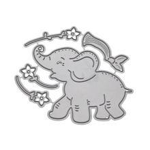 Słoń kwiat do cięcia metalu wykrawacze szablony Scrapbooking album diy pieczęć płaskorzeźba
