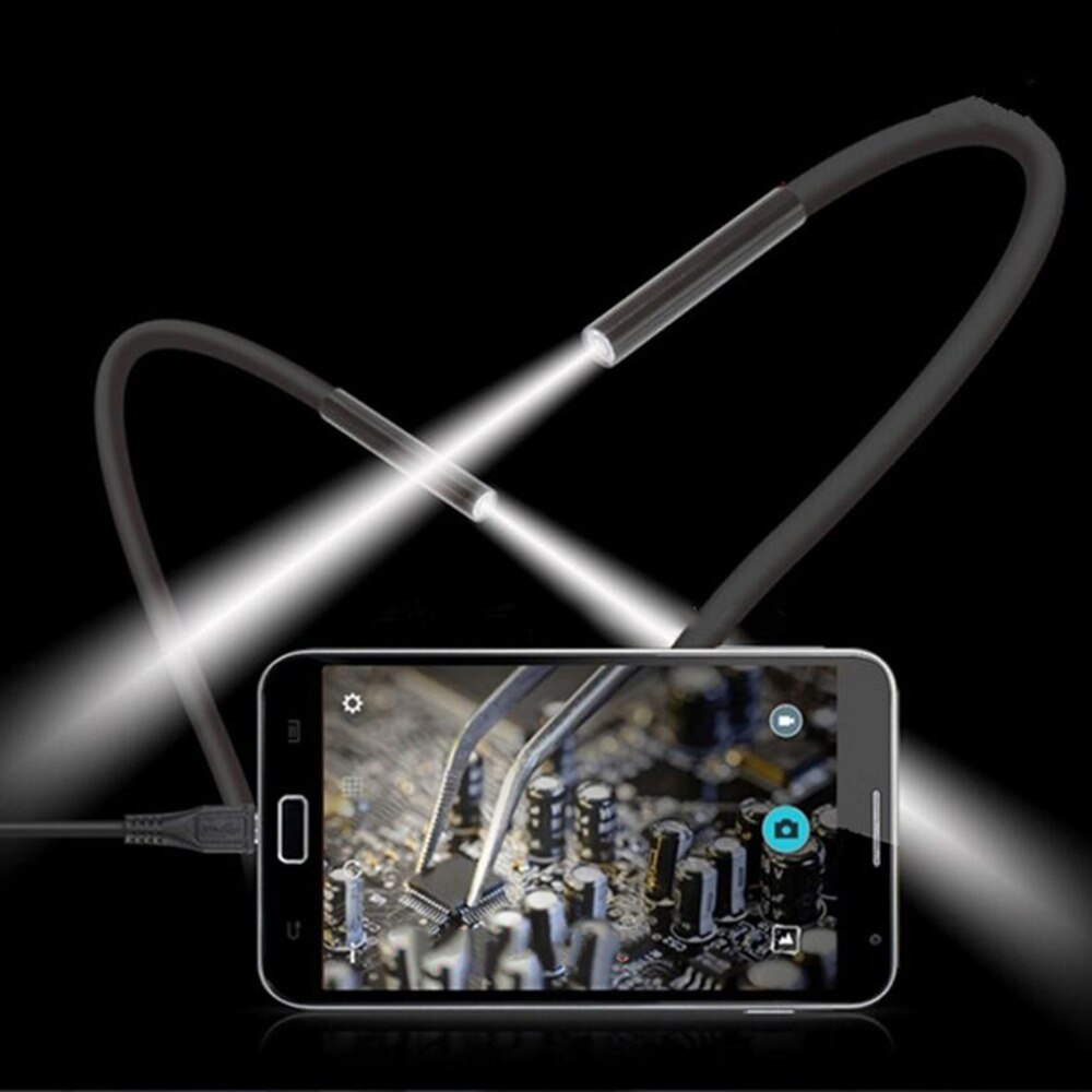 2M 6 LED USB IP67 Wasserdichte Endoskop Endoskop Rohr Schlange Inspektion Video Kamera 7mm Objektiv Mirco USB Endoskop objektiv Spiegel