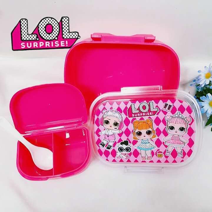 2020 nouveau LOL Surprise poupée dessin animé vaisselle enfants compartiment en plastique bol Portable petit travail boîte à déjeuner cadeaux pour enfants