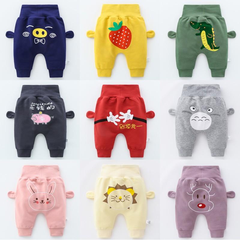 Newborn Baby Clothes Cartoon harem pants high waist pants Baby boy Pants Boys Girls Cotton PP Trouse
