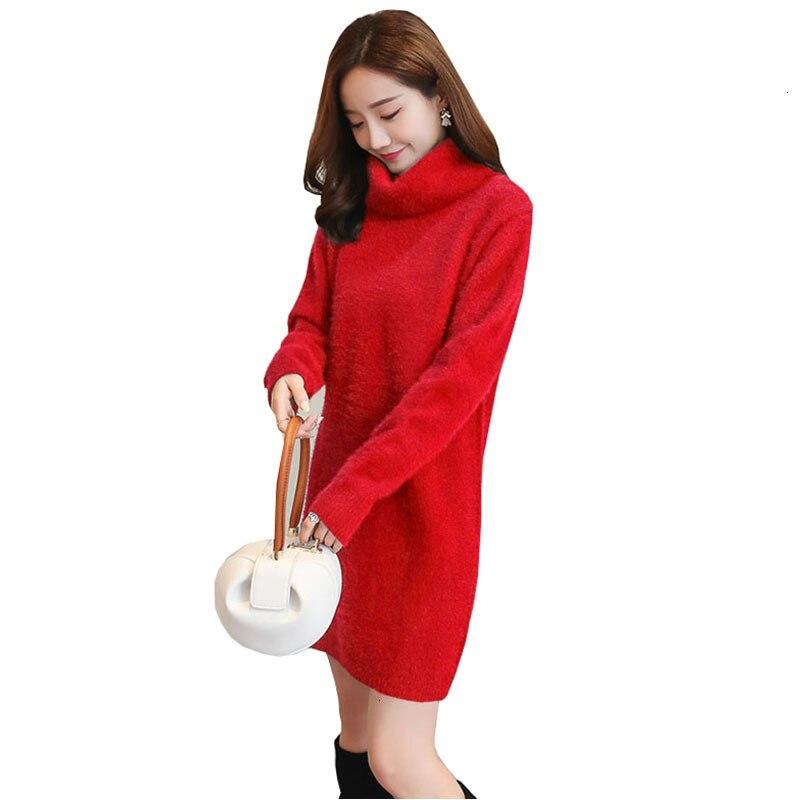Coltrui inverno vrouwen warme trui jurken macio lange mouwen slanke losse quente vestido casual sexy mini gebreide herfst jurk ym990