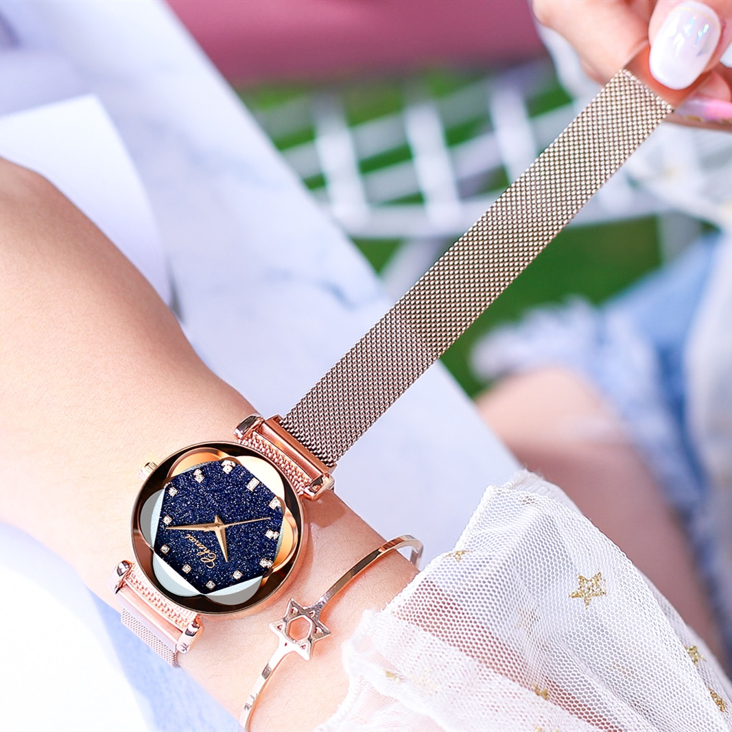 CHENXI Luxury Starry Sky Quartz Watch for Women Waterproof Magnetic Strap Ladies Clothing Accessories Crystal Analog Wristwatch enlarge