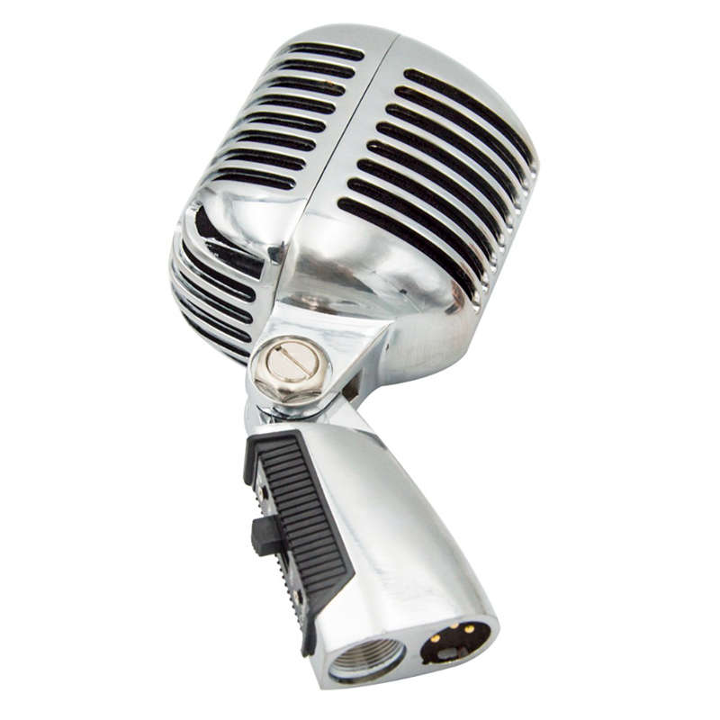 Professional Wired Vintage Classic Microphone Good Quality Dynamic Moving Coil Mike Deluxe Metal Vocal Old Style Ktv Mic Mike enlarge