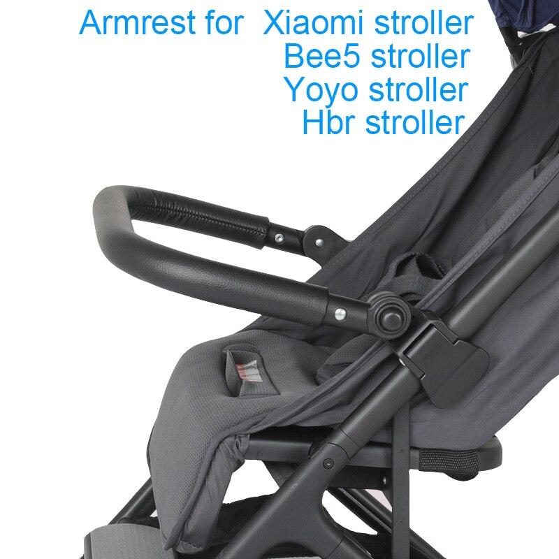 عربة الطفل مسند الذراع ل شاومي ميتو عربة اكسسوارات جلدية الوفير الجبهة مقبض درابزين ل يويو Hbr bee 5 Yoya