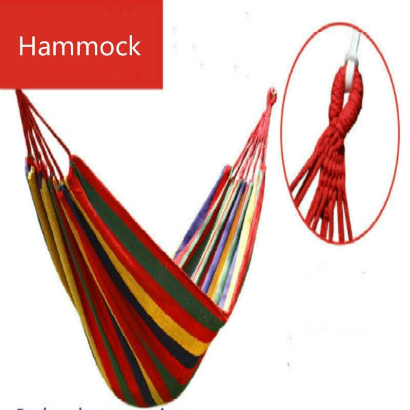 أرجوحة قماشية محمولة بخطوط حمراء وزرقاء ، معدات خارجية للحديقة أو التخييم أو السفر أو الأحداث الرياضية ، أبعاد 190 × 80 سنتيمتر