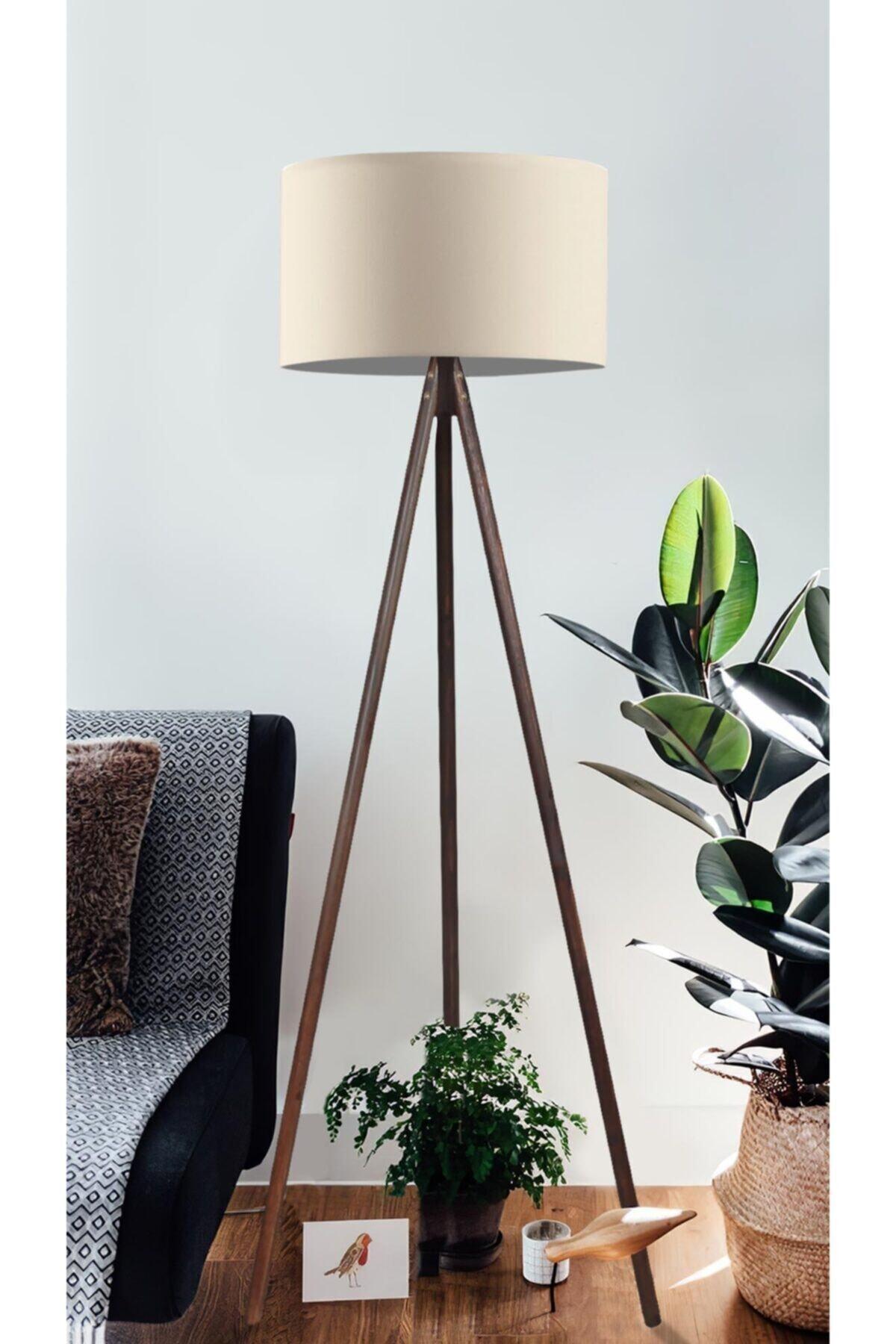 Cream Coffee Mdf Floor Lamp