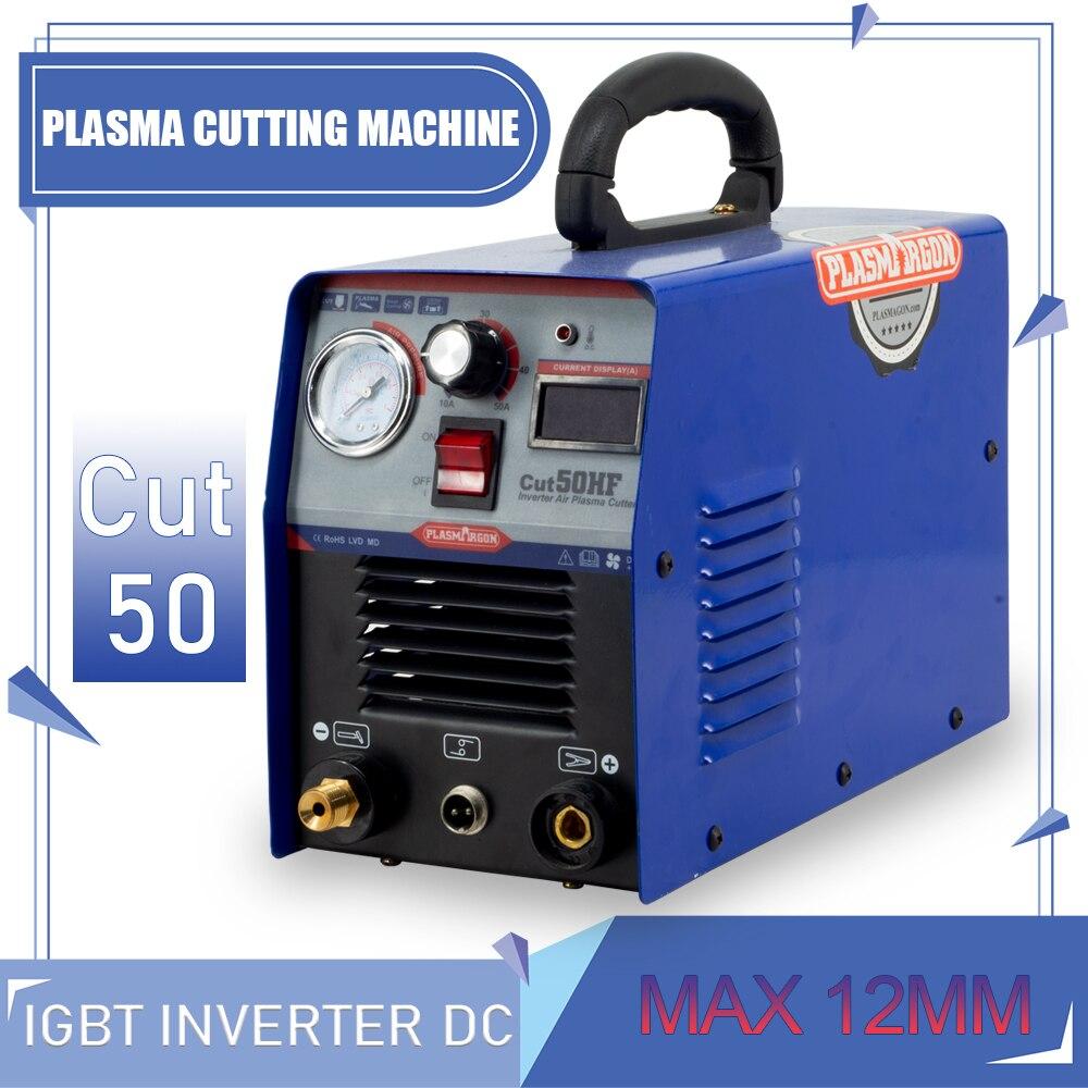Plasmargon Plasma Cutter CUT50 DC  Inverter IGBT Cut Machine Free Cutting Consumable Kit 110 220v