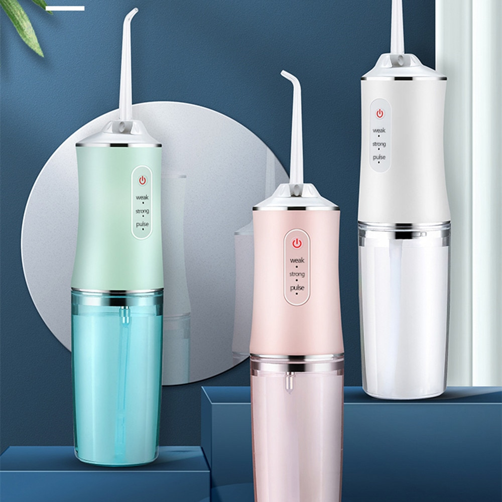AliExpress - 240ML Oral Irrigator USB Rechargeable Water Flosser Portable Dental Water Jet Floss Teeth Cleaner Waterflosser With 4 Nozzle