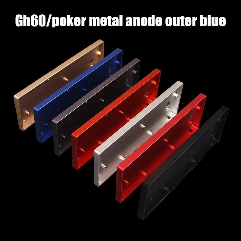 ملحقات لوحة المفاتيح الأنود غلاف من الألومنيوم 60% لوحة المفاتيح الميكانيكية مخصصة قذيفة معدنية مناسبة ل GH60 faceu bface شبه عالية