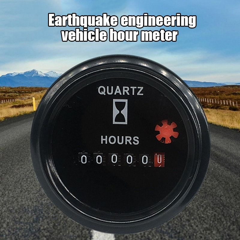 مقياس رقمي للتيار المباشر/التيار المتردد ، 6 أرقام ، للمركبة ، السيارة ، القارب ، الكوارتز ، مقاوم للصدمات ، FKU66