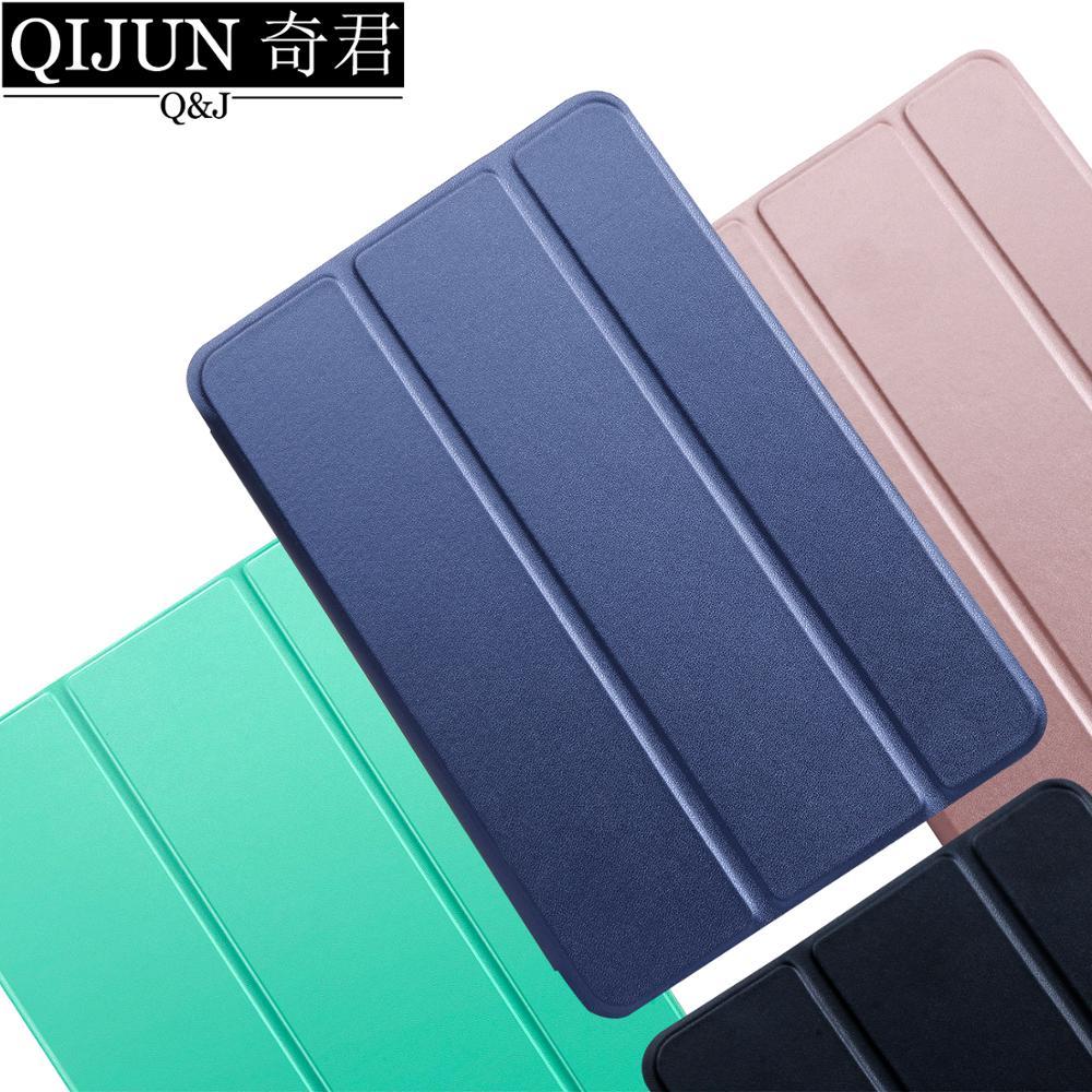 Чехол для планшета Huawei MediaPad T5 10,1 дюйма, кожаный чехол с функцией смарт-сна, чехол с трискладной подставкой, Твердый чехол для телефона, чехол ...
