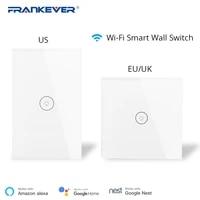 Frankever     interrupteur mural tactile intelligent  wi-fi  1  2  3 prises  application Mobile  telecommande  fonctionne avec Alexa Google Home  US EU UK