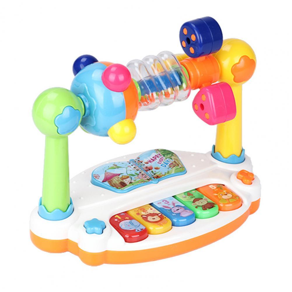 Children Baby Rotating Music Piano with Light Sound Educational Toy Kids Gift rotating kaleidoscope rotation fancy world baby toy kids autism kid interesting toy for children gift cherryb