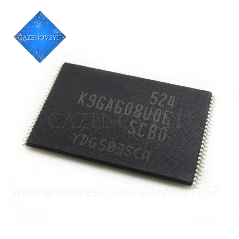 10 قطعة / الوحدة K9GAG08UOE-SCBO K9GAG08U0E-SCB0 K9GAG08UOE K9GAG08U0E TSOP-48 متوفر