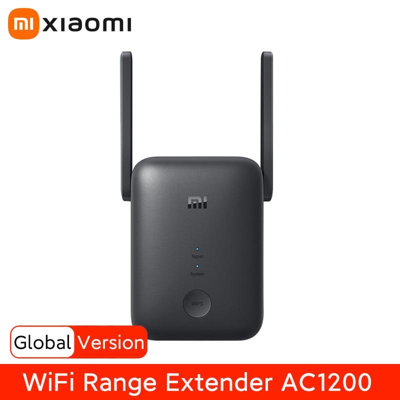 Повторитель сигнала Wi-Fi Xiaomi, 5 ГГц расширитель диапазона AC1200 1200 Мбит/с, усилитель сигнала Wi-Fi, беспроводной роутер, работает с приложением Mi ...