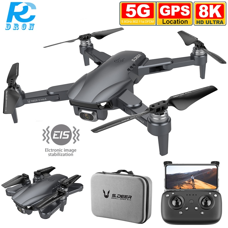 LU8 MAX 8K ESC Camera Drone GPS 5G WIFI FPV Brushless Long Distance GPS Quadcopter Dron 6K Professional PK SG906 S3