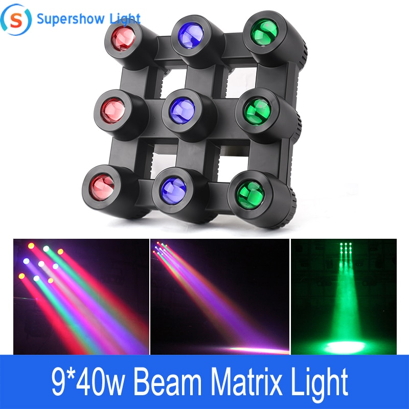 Профессиональный светодиодный матричный светильник DMX512, 370 Вт, RGBW, 9 цветов
