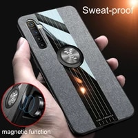 phone case for oppo realme 6 case realme6 cover magnetic ring holder soft fabric cloth coque oppo realme 6 phone case car holder