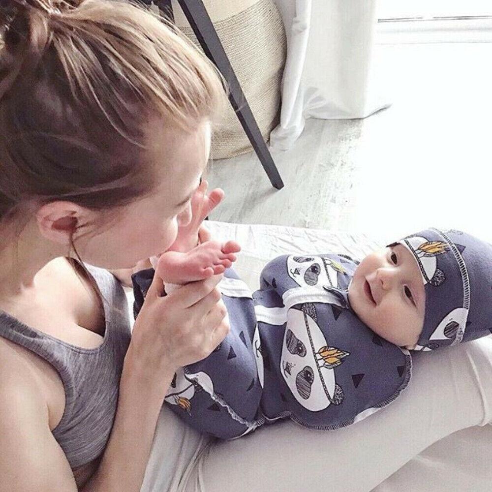 Manta de muselina de 2 uds Sacos de dormir para bebés, manta de bebé recién nacido durmiendo con cremallera, manta envolvente con sombreros