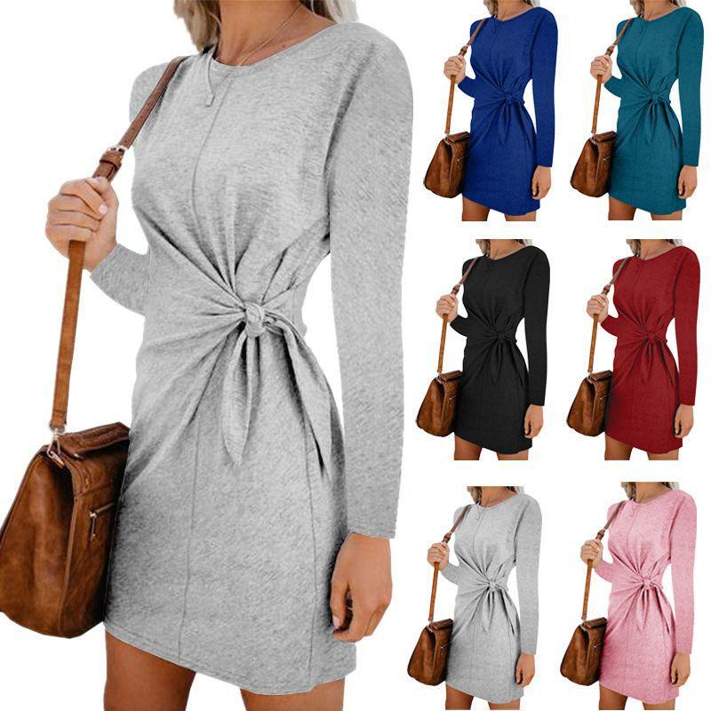 NEDEINS Women Autumn Dress Long Sleeveless For Women Elegant Dresses Fashion Casual Black Party Dress 2020