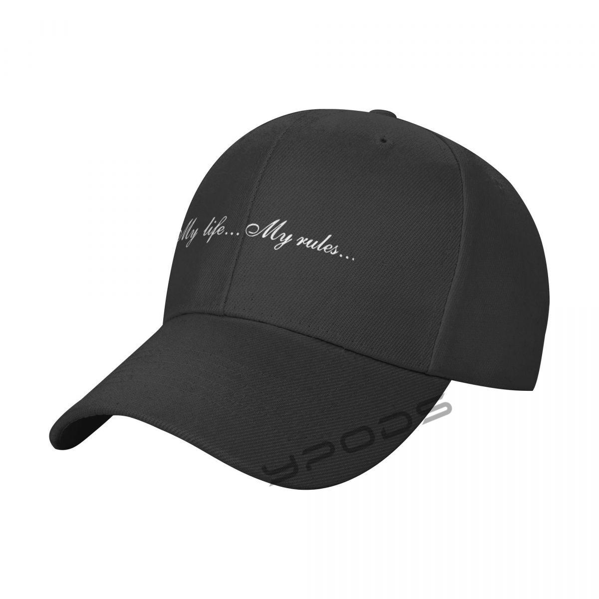 Однотонные бейсболки My Life My Rules, однотонные мужские и женские кепки с козырьком, регулируемые повседневные спортивные кепки