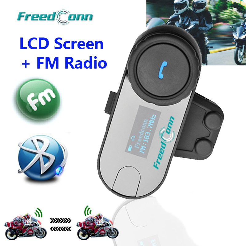 FreedConn, новая версия, TCOM-SC, Bluetooth, мотоциклетная гарнитура, шлем, домофон, ЖК-экран с fm-радио